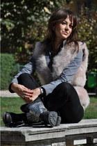 black ASH boots - black Stella McCartney bag - light pink Zara blouse