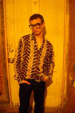 brown Funky&Groovy Threads by Kennington Ltd shirt