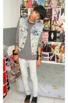 vintagemom vest - Zara Kids t-shirt - Zara jeans - belle by mitchybell boots - F