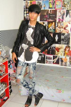 Zara jacket - Zara t-shirt - jeans - boots