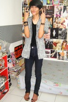 random from Bangkok shirt - Zara top - Zara jeans - custome made shoes