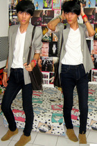 carrer blazer - Topman t-shirt - Zara jeans - shoes - Zara accessories