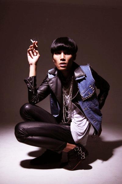 black buckle boots - black bomber jacket jacket - black leather pants pants - bl
