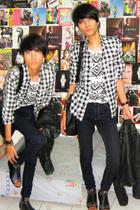 satcas shirt - Topshop t-shirt - Zara jeans - Zara jacket - mitchybell shoes