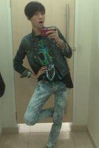 Forever21 jacket - sat cas alun-alunIndonesia t-shirt - Mango jeans - vintage be