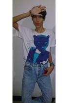 Zara t-shirt - vintage jeans - casio accessories