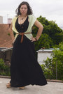 Long-black-old-dress-cotton-vest-lazaro-belt