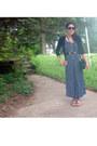 Polka-dot-maxi-vintage-dress-crossbody-vintage-purse-xhilaration-sunglasses