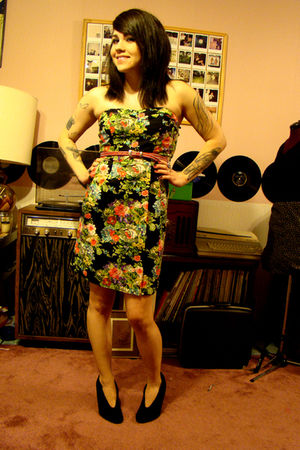 Angie dress - vintage belt - Target shoes