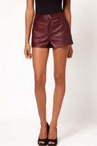 Leather Short Shorts