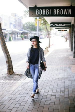 Porselli shoes - Cheap Monday jeans - H&M hat - new look purse - Paing Shop top