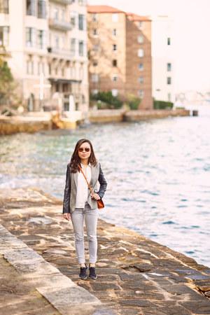 Zara blazer - Cheap Monday jeans - Zara shirt - nike sneakers
