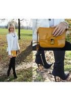 Zara jacket - Bershka bag - Zara heels - Stradivarius jumper