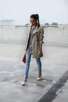 Zara coat - Bershka jeans