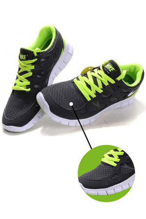 lime green mesh leather nike shoes