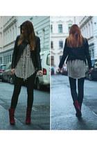 Zara boots - Zara jacket - Zara blouse - Zara pants