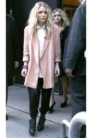 blazer - pants - shoes - shirt - coat - purse