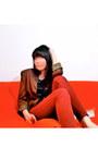 Dark-brown-thrifted-jacket-black-satin-bik-bok-blouse-brick-red-forever-21-p