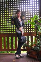Jay Jays jeans - A Live Girl blazer - thrifted vintage bag - Kmart heels - Etsy