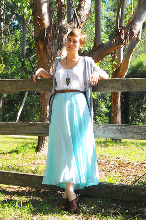 thrifted blouse - thrifted vintage belt - thrifted vintage skirt - Kmart heels