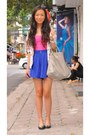 Sky-blue-warehouse-blazer-louis-vuitton-bag-violet-boutique-shorts