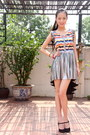 Lyn-around-dress-black-top-shop-heels
