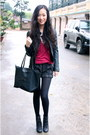 Nine-west-boots-armani-jacket-night-market-shorts-h-m-top