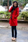 Red-nafnaf-coat-navy-levis-jeans-black-local-boutique-jumper