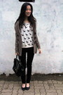 Black-calvin-klein-jeans-light-brown-mango-sweater-black-accessorize-bag
