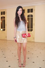 Red-louis-vuitton-purse-gold-guess-heels-gold-warehouse-skirt