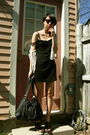 Black-marshalls-dress-black-aldo-purse-black-rampage-shoes-beige-vintage-c