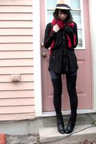 black payless boots - black American Apparel socks - black INC from Macys dress