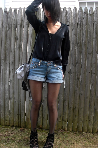 blouse - Paris Blues shorts - Aldo shoes