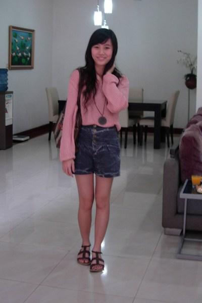 top - shorts - Yongki Komaladi shoes - Gaudi necklace - accessories