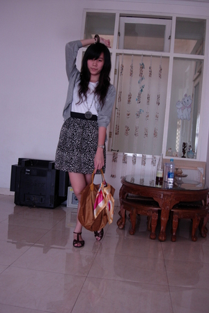 bloop top - Gaudi jacket - skirt - Yongki Komaladi shoes - accessories