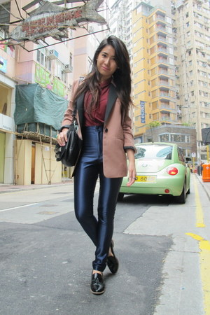 From HK blazer - Topshop top - the disco pants American Apparel pants - leather