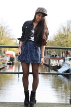 studs OASAP hat - denim jacket dolce&gabanna jacket - print Esprit t-shirt