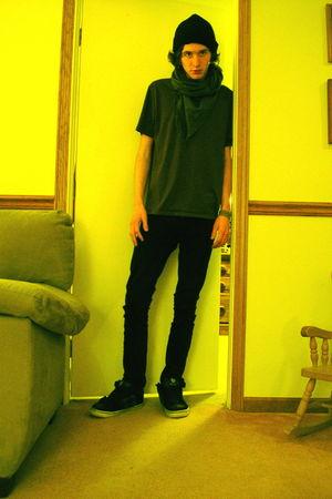 purple vurt shirt - black social collision jeans - black unknown hat - gray unkn