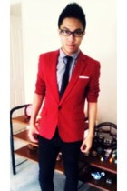 ruby red POA blazer