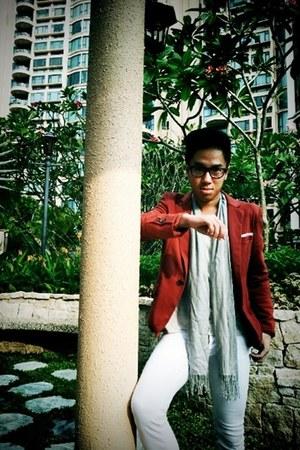 ruby red POA blazer