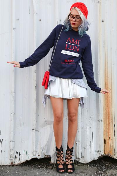 navy AMI LDN sweater - black AmiClubWear heels