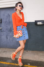 Carrot-orange-orange-topshop-blouse