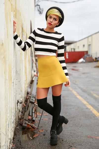 black platforms TUK Footwear shoes - black PYLO sweater