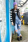 Blue-one-teaspoon-jeans-black-fringe-leather-blanknyc-vest