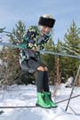Chartreuse-combat-boots-h-m-boots-black-floral-blazer-forever-21-blazer