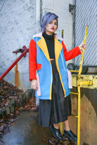 sky blue primary coat OASAP coat - black TUK Shoes shoes