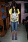 Heather-gray-socks-navy-diy-jeans-yellow-t-shirt