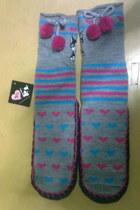 heather gray socks