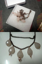 dark brown charmed necklace