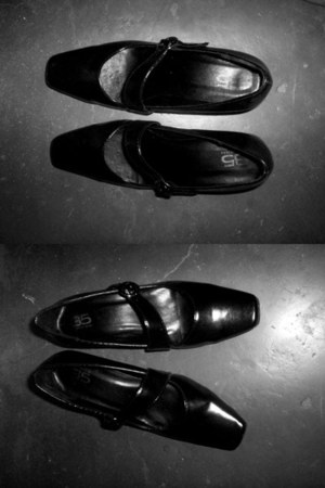 black shoes